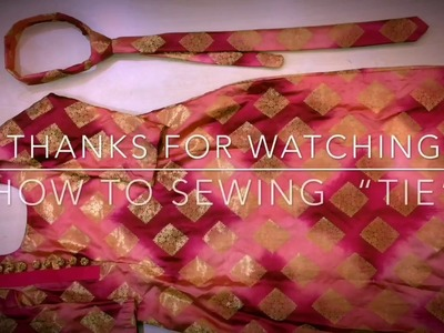 How To Sewing TIE | With Spare Piece Of Wife's KameeZ | Latest Update 2018 | Sidhu Tailor's #1