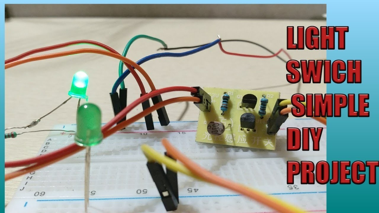 Simple Light Switch Using Ldr Diy Ptoject Electronic Projects