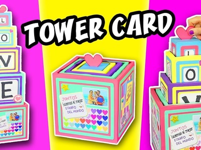 LOVE TOWER CARD - DIY Love Gift Valentin´s Day | aPasos Crafts DIY