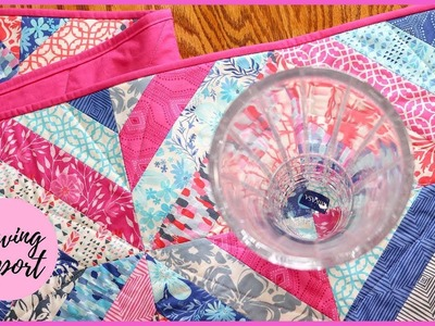 Quilted Table Runner Using Strip + Tube Piecing   Beginner-Friendly Project   SEWING REPORT