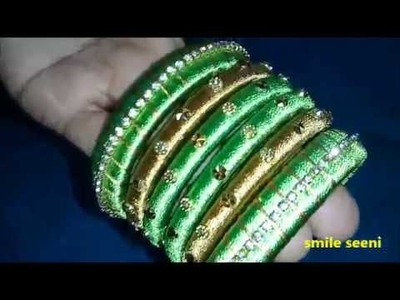 Simple silk thread bangles designs || Easy and Simple DIY Fancy Bangles