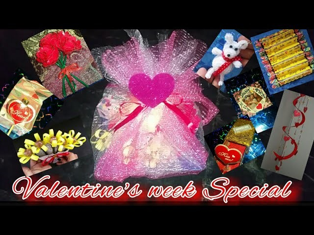 Tutorial | 7 cute nd awesome gift for 7 days nd 8th one special for valentine's day | DIY | 2018