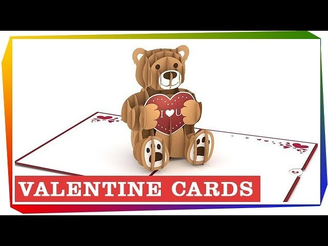 Valentine Cards Gift Ideas - 3D Paper Cards