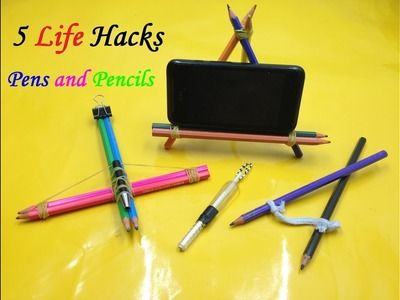 5 Things you can make with Pens and Pencils - Pen Life Hacks
