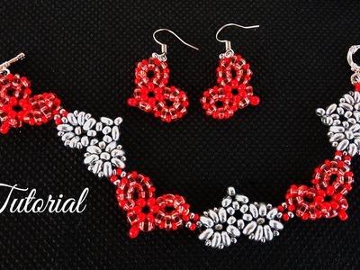 Beaded Hearts Bracelet (Earrings) - Tutorial ❤️