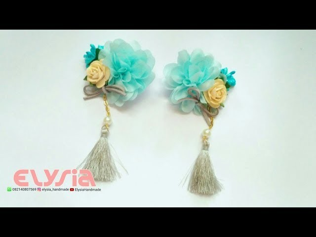 Chinese New Years Hair Clip Ideas With Chiffon Flowers #CNYCollection by Elysia Handmade
