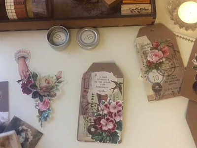 Decorating Vintage Style Gift Tags