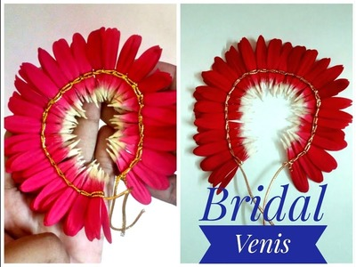 DIY| How to make Bridal Venis | Gajra | Using Gerbera