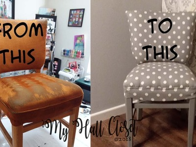 DIY - HOW TO REUPHOLSTER OR UPHOLSTER AN OLD CHAIR