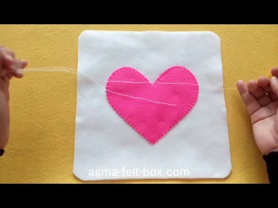 DIY : Making  Heart Felt Pillow for Valentine Gift