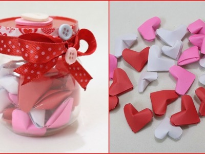 DIY Origami Heart.How to make Origami Heart.Valentines day gift idea
