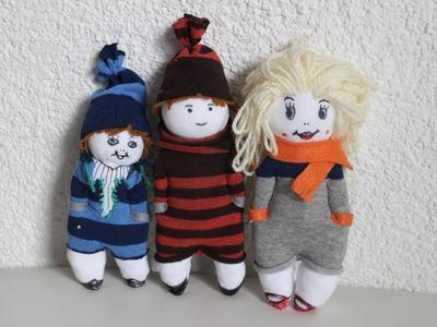 DIY.Puppen aus Socken.diy. Dolls Made of socks