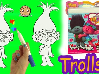 Dreamworks Trolls Poppy Twins Magic Imagine Ink Rainbow Color Pen Surprise Picture Coloring Video