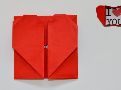 Easy Origami Heart Box for Valentine's & Envelope
