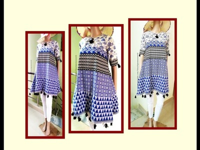 Empire A Line Suit.Tunic.Top.Short  Kurti Drafting & Cutting - Simple & Easy making
