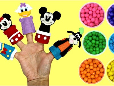 FINGER FAMILY Nursery Song Rhyme with Mickey Mouse & Friends