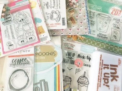 Flavor of the Month Card Kit Unboxing   Guest Designer   Scrapping for Less January 2018