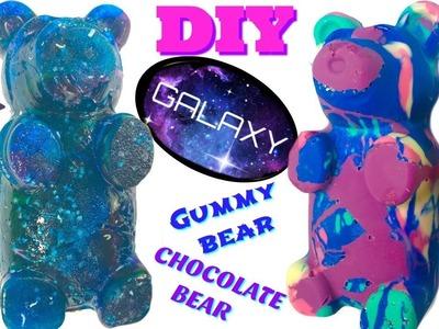 Galaxy Gummy Bear and Chocolate Galaxy Bear & Stars DIY