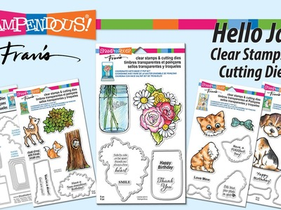 Hello Jar Stamps and Cutting Dies Set