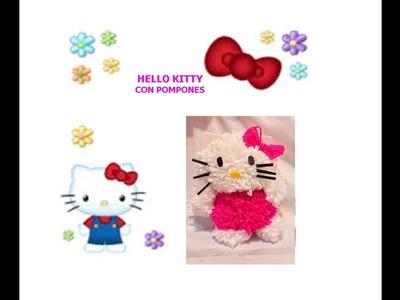 Hello Kitty con pompones