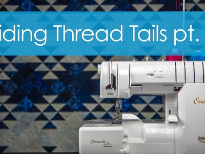 Hiding a thread tail in the middle of a seam | Serger Technique