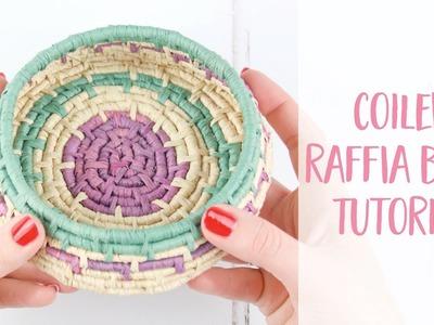 How to make a Coiled Raffia Bowl DIY Tutorial | Craftiosity | Craft Kit Subscription Box