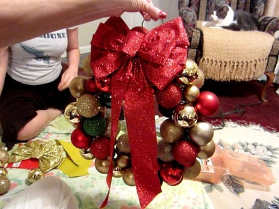 How to Make a Homemade Christmas Wreath (Day 1116 - 12.14.12)
