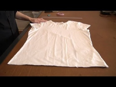 How to Make a T-Shirt Shorter : Sewing & Reconstructing T Shirts