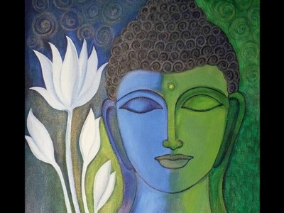 How to make Abstract Buddha Acrylic Painting