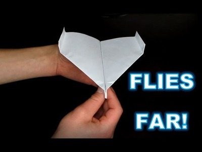 HOW TO MAKE AN AWESOME PAPER AIRPLANE!