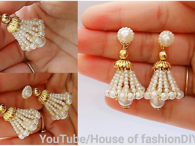 How To Make Beaded Earrings||Beaded Jumkies||Head pin earrings