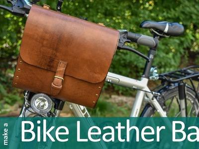 How to make leather bag | Make leather and wood bike bag