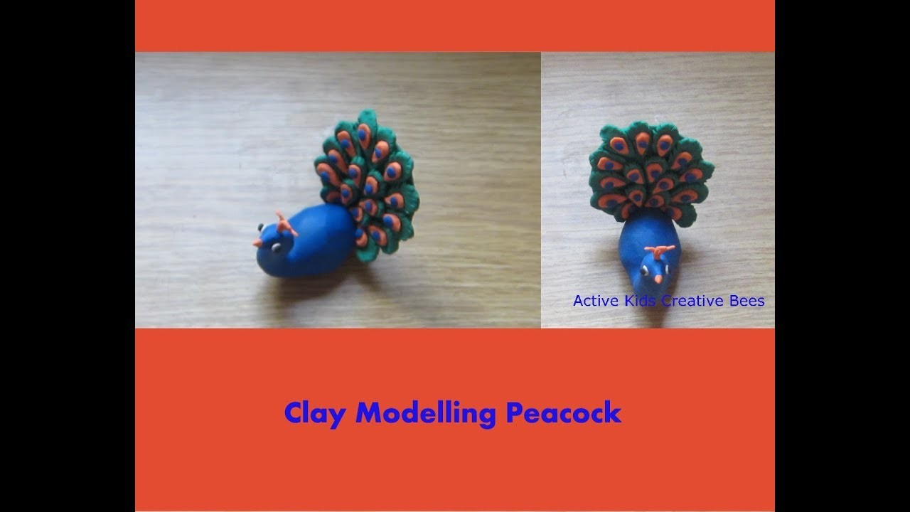 How to make Peacock with Clay | Clay Modelling Peacock
