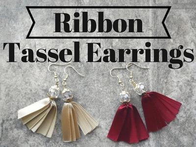 How to Make Ribbon Tassel Earrigns