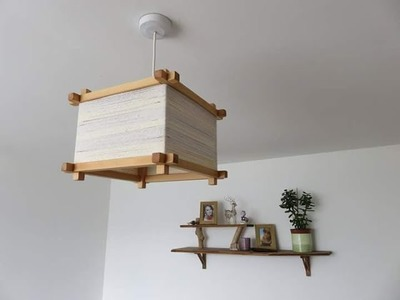How to make wooden Chandelier.