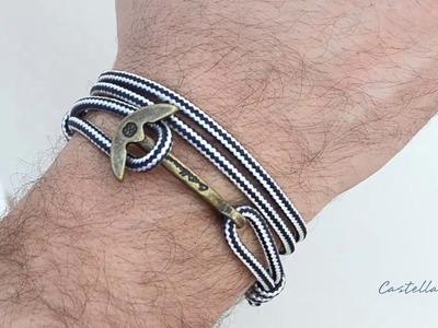 How to wear the Gaeta Anchor Handmade Bracelet by Castellamare