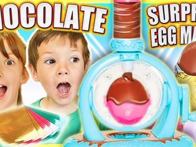 Kids Chocolate Surprise Egg Maker DIY Kinder Surprise Eggs Toy Unboxing ABC Children's ToysReview #