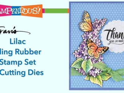 Lilac Cling Rubber Stamps and Dies