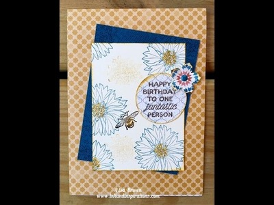 Make A Birthday Card with Touches of Texture from Stampin' Up!