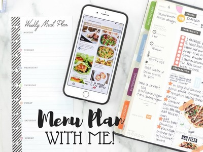 Menu Plan With Me! ????????????????Happy Planner Recipe Planner and Half Sheets | At Home With Quita