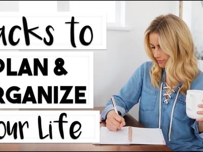 ORGANIZE: 6 Hacks to Plan and Organize Your Life   #LIFEGOALS