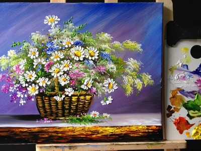 Paint Flowers  with Acrylic Paint and a Palette Knife