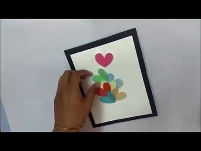 Quick Birthday Card Idea   Birthday greeting card For Girlfriend : complete tutorial