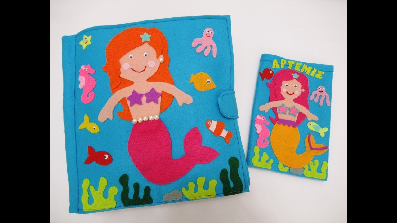 Summer quiet book mermaid