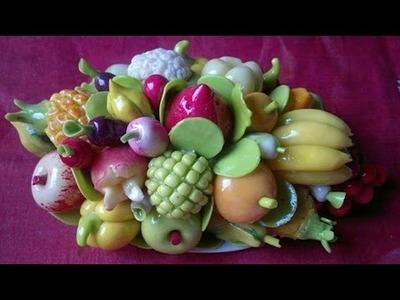ক্লে শোপিছ, ক্লে দিয়ে ফলের ঝুড়ি তৈরী .clay fruits basket making