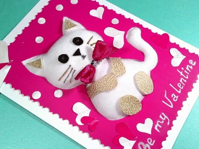 UNIQUE  PLUSH greeting card. Special SOFT greeting card.