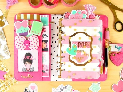 """Valentine's Planner Setup & Process! (""""Pop Goes My Heart"""" Kit From Mommy Lhey Designs)"""
