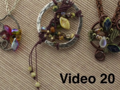 Video 20   Macrame in a Frame for a Focal Pendant with Anne Dilker