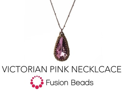 Watch how to bead the Victorian Pink Necklace by Fusion Beads