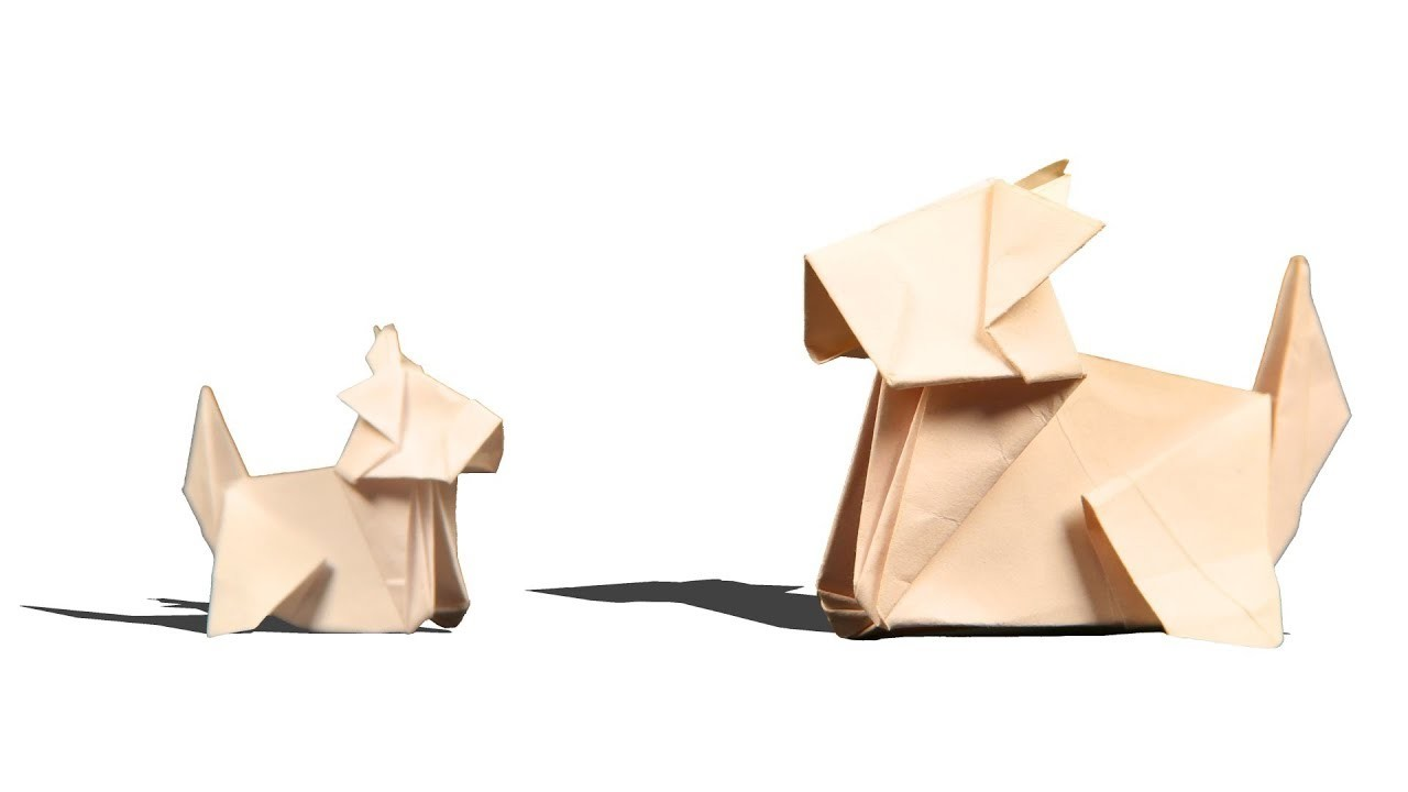 3d origami dog how to make origami dog step by step